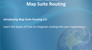 Introduction to the Map Suite Routing
